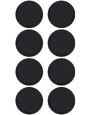 Starnearby onderzetters van silicone, rond, zwart, antislip, diameter 10 cm Kit de Verano fresco