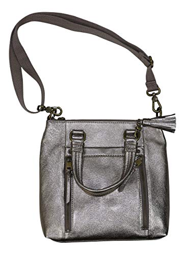 - The Sak Genuine Leather Sequoia Crossbody Shimmer Purse (Pyrite Metallic)