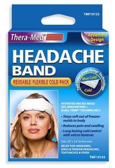 Maux de tête Thera Band-med - Flexible, Pack froide réutilisable