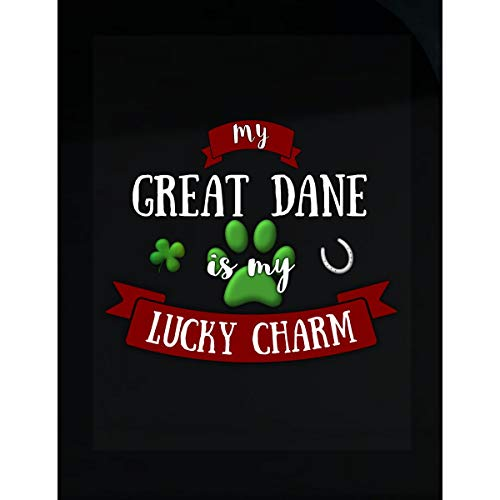- My Great Dane is My Lucky Charm Custom Dog Owner Gift - Sticker