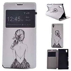 pintados PU Teléfono Buzón para Sony Xperia M4