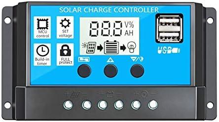 デュアルUSB LCDディスプレイを備えたインテリジェントなソーラー充電コントローラーPWMコントローラーレギュレータソーラーパネルバッテリーコントローラー