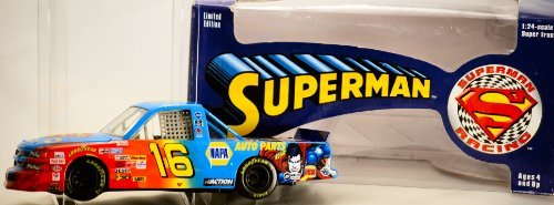 (1999 - Action / NASCAR - Ron Hornaday #16 - Superman Racing / NAPA Super Truck - 1:24 Scale Diecast - Warner Bros. - Limited Edition - Collectible)