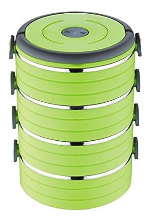 4c301764367a5c Lunch box thermique 4 niveaux – vert – Récipient isotherme – foodbehä lter  – Boîte de