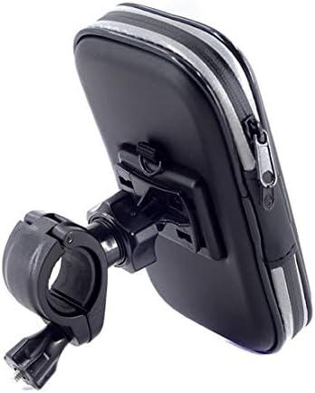 YIKETING それはスクリーンに触れることができます、ブラケットに乗る、防水携帯電話バッグ、一般的な自転車電話マウント (色 : 黒, サイズ : 4)