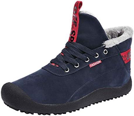 暖かい、暖かい裏地メンズ・レディース・防水登山靴雪のブーツブーツと並ぶユニセックス冬靴の冬のブーツアウトドアブーツは靴を働きます