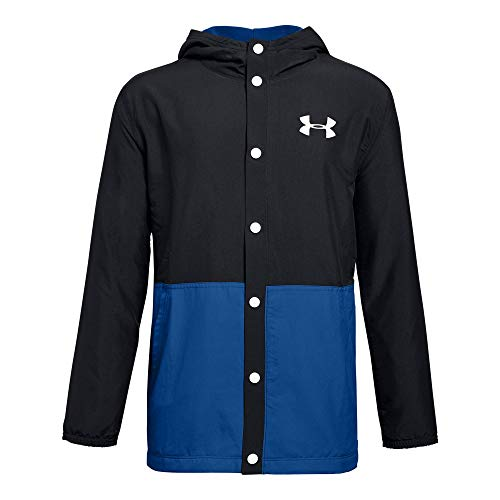 (Under Armour Boys Phenom Coaches Jacket, Black (001)/White, Youth X-Large)