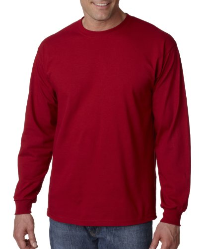 Gildan 2400 - Classic Fit Adult Long Sleeve T-shirt Ultra Cotton - First Quality - Cardinal Red - 2X-Large ()