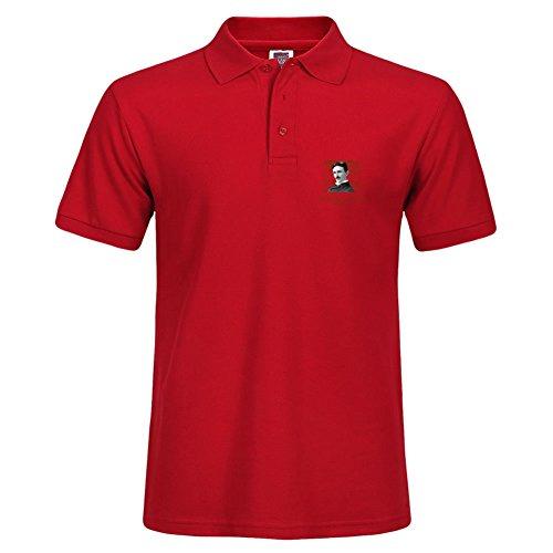 Red Nikola Tesla Short Polo Shirt New Arrival Large T-shirt For Men Autumn - Destin Polo Outlet