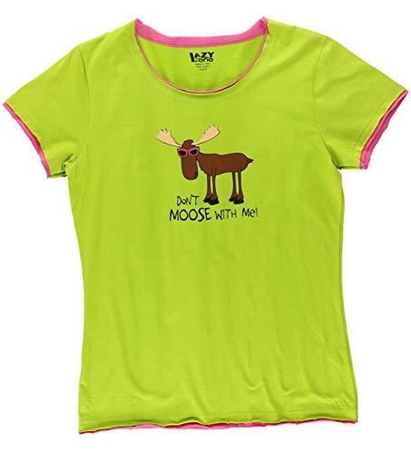 Womens Animal Pajama Set Separates (Medium, Don't Moose With Me Womens PJ - Moose Dont