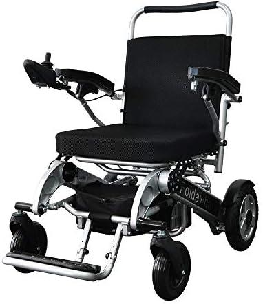 [スポンサー プロダクト]折り畳み電動車椅子、ただ2秒で折りたたみ可能、軽量電動車椅子 PW-1000XL (リモコン左取り付け)