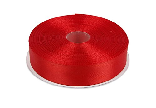 Fantastic Deal! Red Satin Ribbon. High End Thick . 1 Inch 50 Yards Roll Ribbons