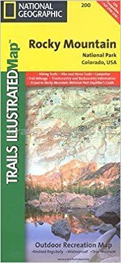 Topographic Map Rocky Mountains.National Geographic Trails Illustrated Rocky Mountain National Park