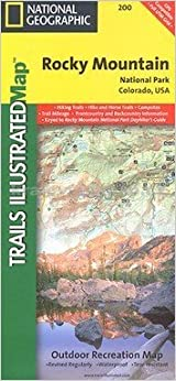 National Geographic Trails Ilrated Rocky Mountain National Park Colorado Usa Trails Ilrated Topo Maps Usa Folded Map