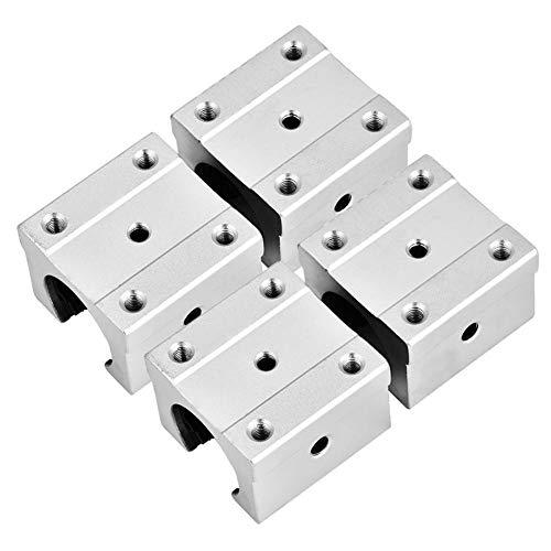 4 Stücke SBR16UU 16mm Aluminium Linearlager CNC Teile Öffnen Linearkugellager Gleitblock für Leise, Schnelle, Genaue Ausrüstung