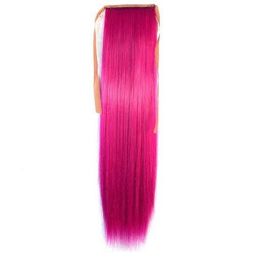 Hot Tail (Stepupgirl 1 Piece 21 Inch Straight Synthetic Fiber Ponytail Horsetail Hairpiece (Hot Pink))