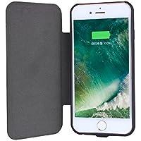 UPsztec 5.5 Inch Solar Battery Clip Charger Case 5000 mAh Power bank For Iphone 6plus 6splus 7plus 7S Plus(Black) (for iphone 6 plus/6s plus/7 plus/7s plus)