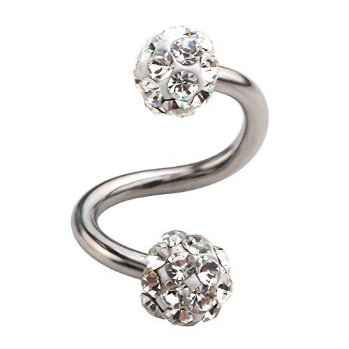 Jovivi Gauge Stainless Crystal Earring
