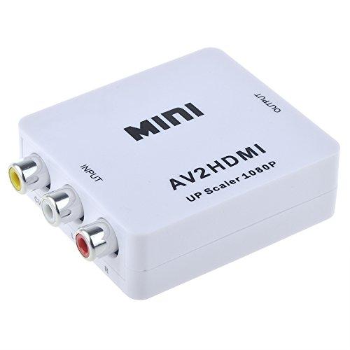Flashmen® Mini Composite AV CVBS 3RCA to HDMI Video Converter Adapter 720p 1080p Upscaler