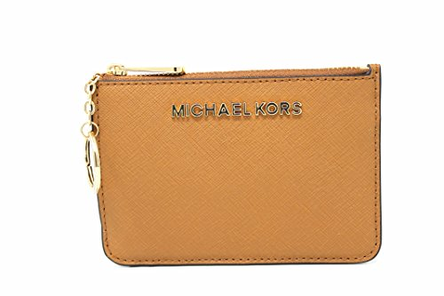 576f789cf07f Michael Kors Saffiano Leather Jet Set Item Small TZ Coin Pouch Card Case  with ID Window (Acorn) - Buy Online in UAE.
