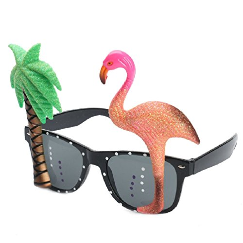 Ponce Fashion Flamingo Beach Party Sunglasses Glitter Beach
