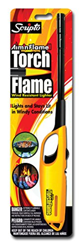 RV Butane Lighter, Wind Resistant, Disposable, 1pk Assorted