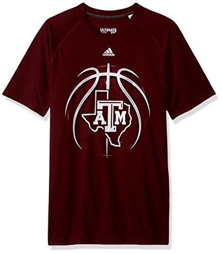 adidas NCAA Texas A&M Aggies Mens Light Ball Ultimate S/Teelight Ball Ultimate S/Tee, Maroon, Medium