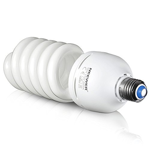 Cfl Tri Tube - Neewer 65W 110V 5500K Tri-phosphor Spiral CFL Daylight Balanced Light Bulb in E27 Socket for Photo and Video Studio Lighting(65W)