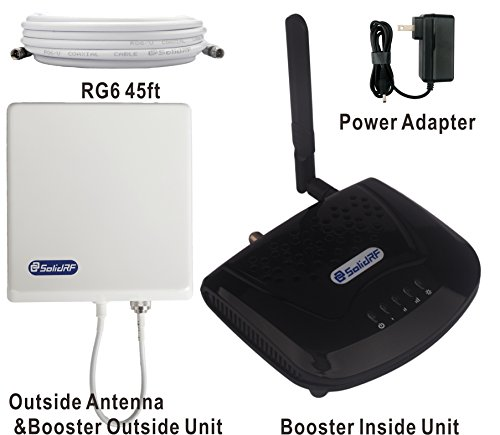 SolidRF SOHO Tri-Band AT&T, T-Mobile 4G/LTE Cell Phone Booster For All Carriers 2G/3G and AT&T, T-Mobile 4G LTE, 700(Band12)/850/1900 MHz by SolidRF (Image #1)