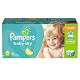 Pampers Pañales Desechables Baby Dry, Talla 6, 96 Piezas