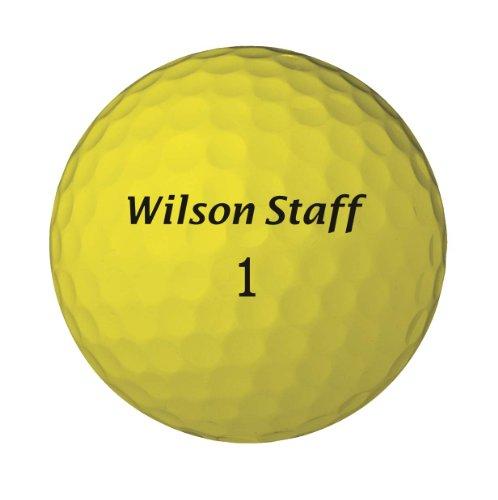 Wilson Sporting Goods Staff Duo Golf Balls, Pack of 12 (Yellow), Outdoor Stuffs