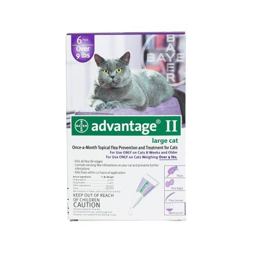Flea Control for Cats and Kittens Over 9 Lbs 6 Pack by Bayer Animal Health