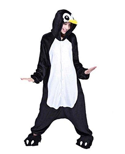 [Adstry Cosplay Kigurumi Pajamas Sleepwear Costume Homewear 4-53 Penguin L] (50s Girl Costumes Ideas)