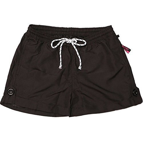 Swim Trunks Shorts Women Solid Color SAFS Black 30