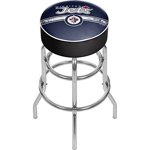 (Trademark Gameroom NHL Winnipeg Jets Chrome Bar Stool with Swivel )
