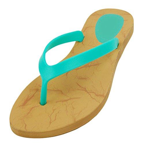 Le Donne Delle Ragazze Estate Gelatina Di Plastica Spiaggia Di Colore Ampio Sandali Grandi Infradito (più) Di Menta