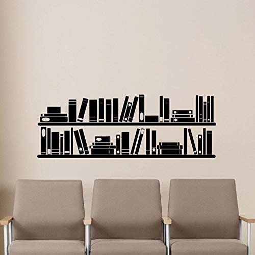 Mampara 70x80 Libros Estantería Pared Vinilo Calcomanía Sala de Lectura Biblioteca Escuela Aula Pegatina Oficina Inicio Habitación de los niños Cuarto de niños Mural Cartel 118X42Cm: Amazon.es: Hogar