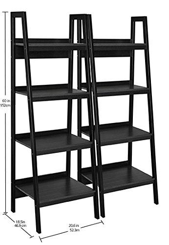 Ameriwood Home Lawrence 4 Shelf Ladder Bookcase Bundle, Black by Ameriwood Home (Image #8)