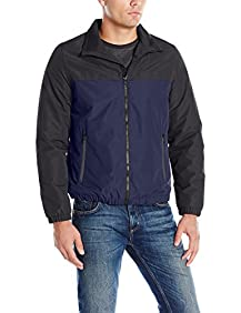 Nautica Men's Brushed Radiance Zip Front Jacket