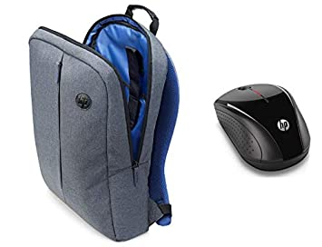 575220ea1eb HP 15.6 in Value Backpack - K0B39AA - Grey with HP x3000 Wireless Mouse,  Black