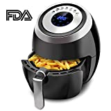Electric 3.8 QT Air Fryer Healthy Oil Free Cooking Digital Kitchen Deep Airfryer with Stainless Steel Accessories Basket And Cookbook