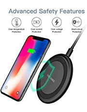 Wireless charger 10W Wireless Charging Pad 2020 Upgraded version Compatible with iPhone 11/11 Pro/11 Pro Max/XS Max/XR/XS/X/8/8+, 10W Fast Charger Galaxy Note 10/Note 10 Plus/S10/S10+/S10E/Note 9/S9/Note 8