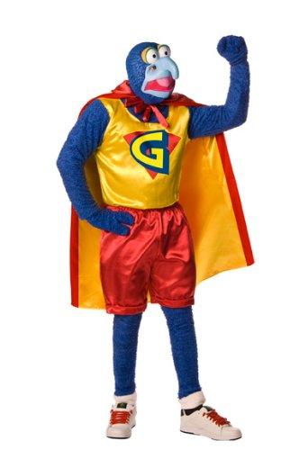 Muppets Gonzo Costume, Blue, Standard -
