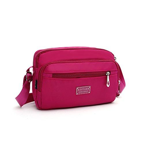 Women Bags Bag AOTIAN Closure Casual For Bag Bag For Shoulder E Zipped Day Messenger Hiking Cross ROSE Body 7gYp7q