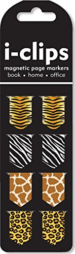 Animal Prints i-Clips Magnetic Page Markers (Set of -