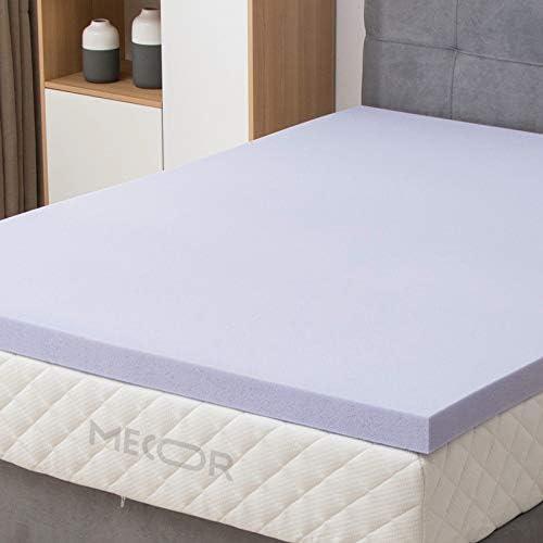 mecor 4 Inch 4in Mattress Topper King Size-100 Gel Infused Memory Foam Mattress Topper w CertiPUR-US Certified Foam, Pressure-Relieving Bed Topper Purple