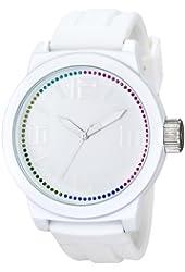Kenneth Cole Reaction Unisex RK1389 Street Fashion Analog Display Japanese Quartz White Watch