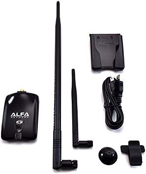 Alfa Adaptador USB Inalámbrico N Atheros + 9 dbi de la Antena