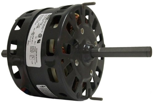 Fasco D1010 5.0-Inch Diameter Shaded Pole Motor, 1/8-1/12-1/15 HP, 115 Volts, 1050 RPM, 3 Speed, 4.4-3-2.3 Amps, DS Rotation, Sleeve Bearing