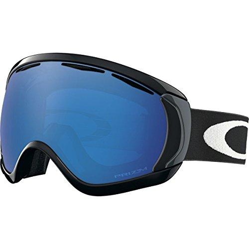 Oakley Men's Canopy Snow Goggles, Matte Black, Prizm Sapphire Iridium, - Iridium Black Oakley Goggles